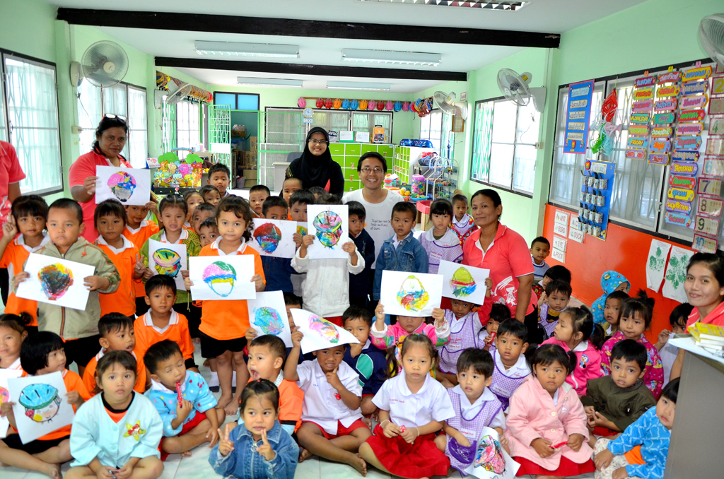 Ban Kookot Preschool Holds Extracurricular Road Safety Activities Sponsored By Sigma Elevator Aip Foundation