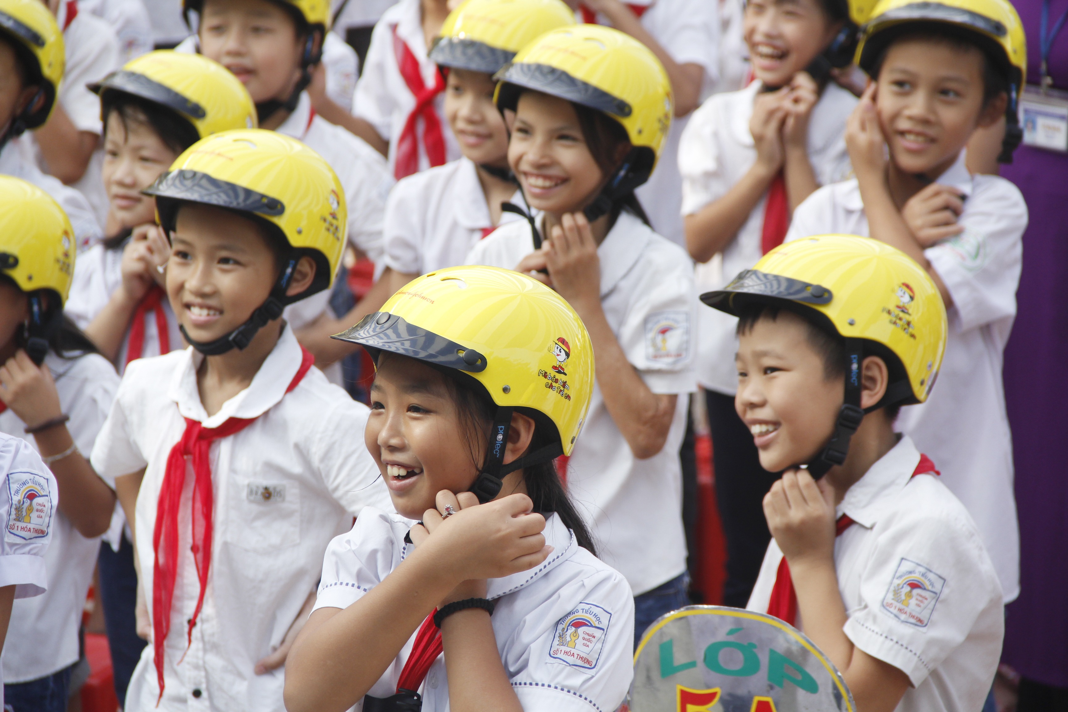 Vietnam_ Helmets For Kids_ Thai Nguyen Students_ Helmet Safety_ 2018