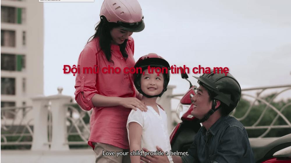 Love your child, provide a helmet PSA