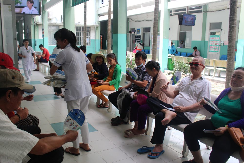 AIP Foundation visits five hospitals across Ho Chi Minh City to distribute 6,400 informative hand fans