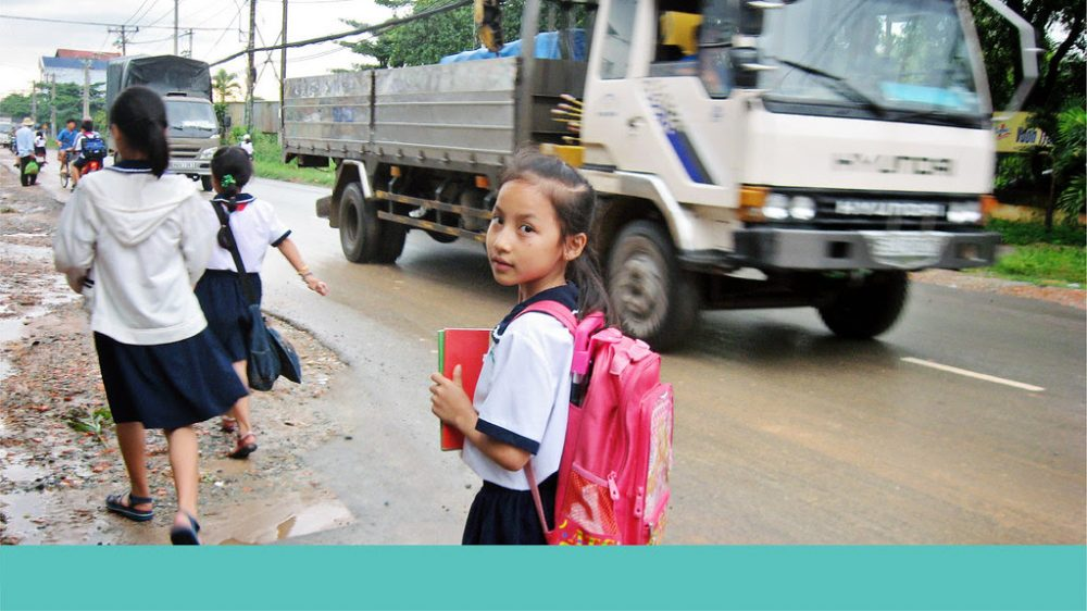 Since 2005, AIP Foundation has been working on safe school zones for children, promoting infrastructural modifications including speed reduction.