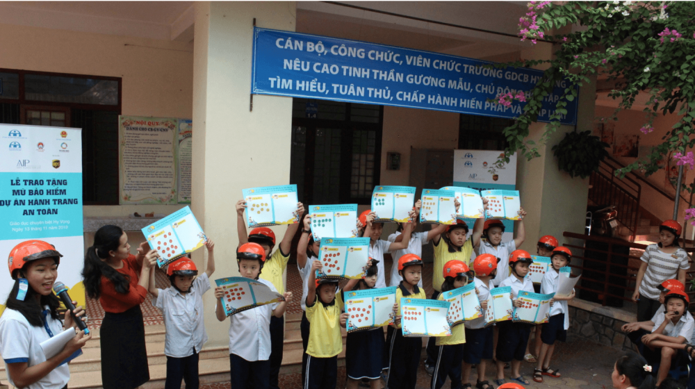 Safety Delivered brings helmet safety education to students with physical disabilities in Ho Chi Minh City