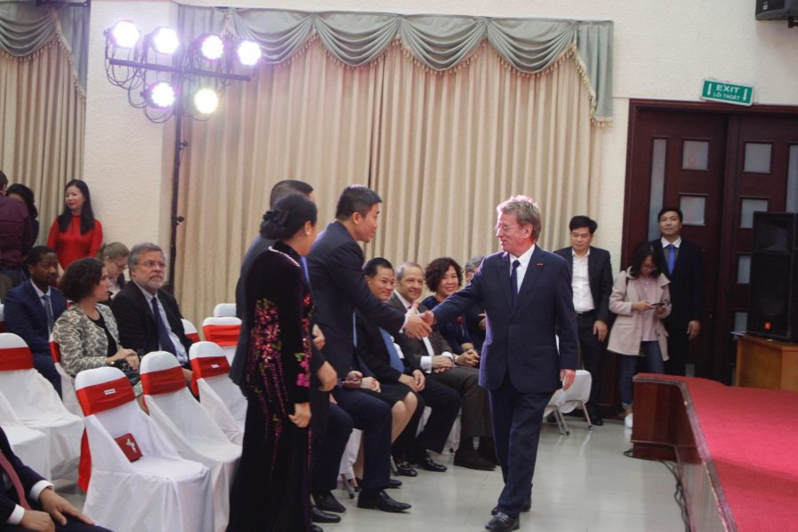 President of AIP Foundation, Greig Craft, was invited to deliver a speech on behalf of all 1,200 foreign NGOs in Vietnam.