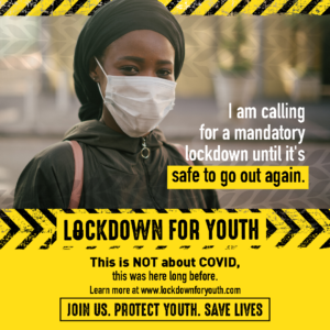 Young people are going on a mandatory lockdown demanding the right to safe roads